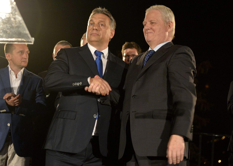Orbán és Tarlós az eredményvárón vasárnap. Győzött az egység