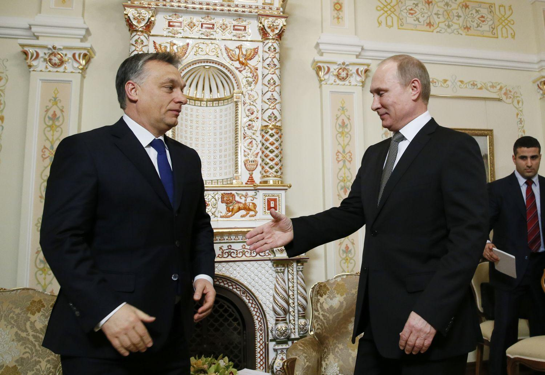 Orbán és Putyin 2014 januárjában a novo-ogarjovói orosz elnöki rezidencián. Fél évet gondolkodott, mire eldöntötte