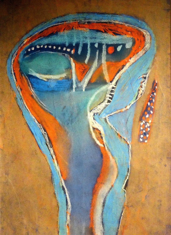 Vajda Lajos: Maszk 1937, papír, pasztell