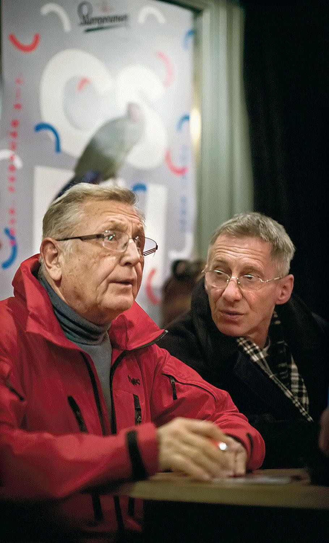 Jíri Menzel és Bán János a Cseh Filmkarnevál pódiumbeszélgetésén