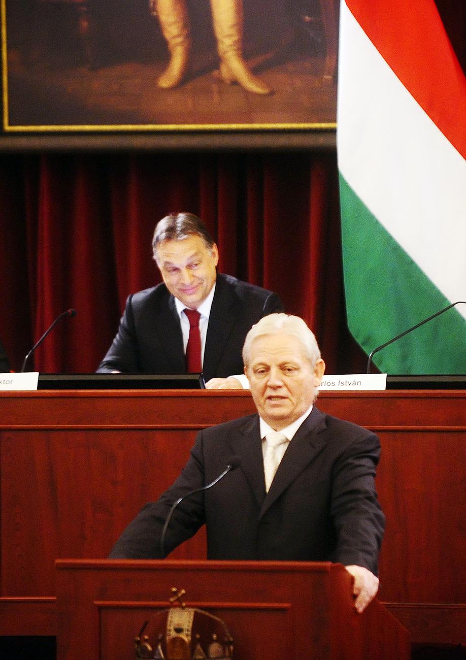 Orbán Viktor és Tarlós István a budapesti Városházán